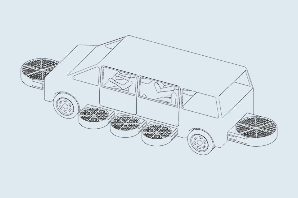 pegasious car, flying car